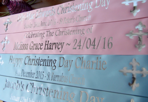 Personalised Christening Banners